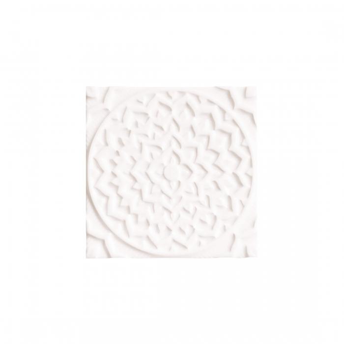 ADEX-ADEH4001-RELIEVE-MANDALA COSMOS-15 cm-15 cm-EARTH>NAVAJO WHITE