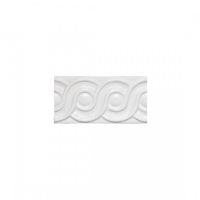 ADEX-ADMO4078-RELIEVE-CLASICO C/C   -7.5 cm-15 cm-MODERNISTA>BLANCO