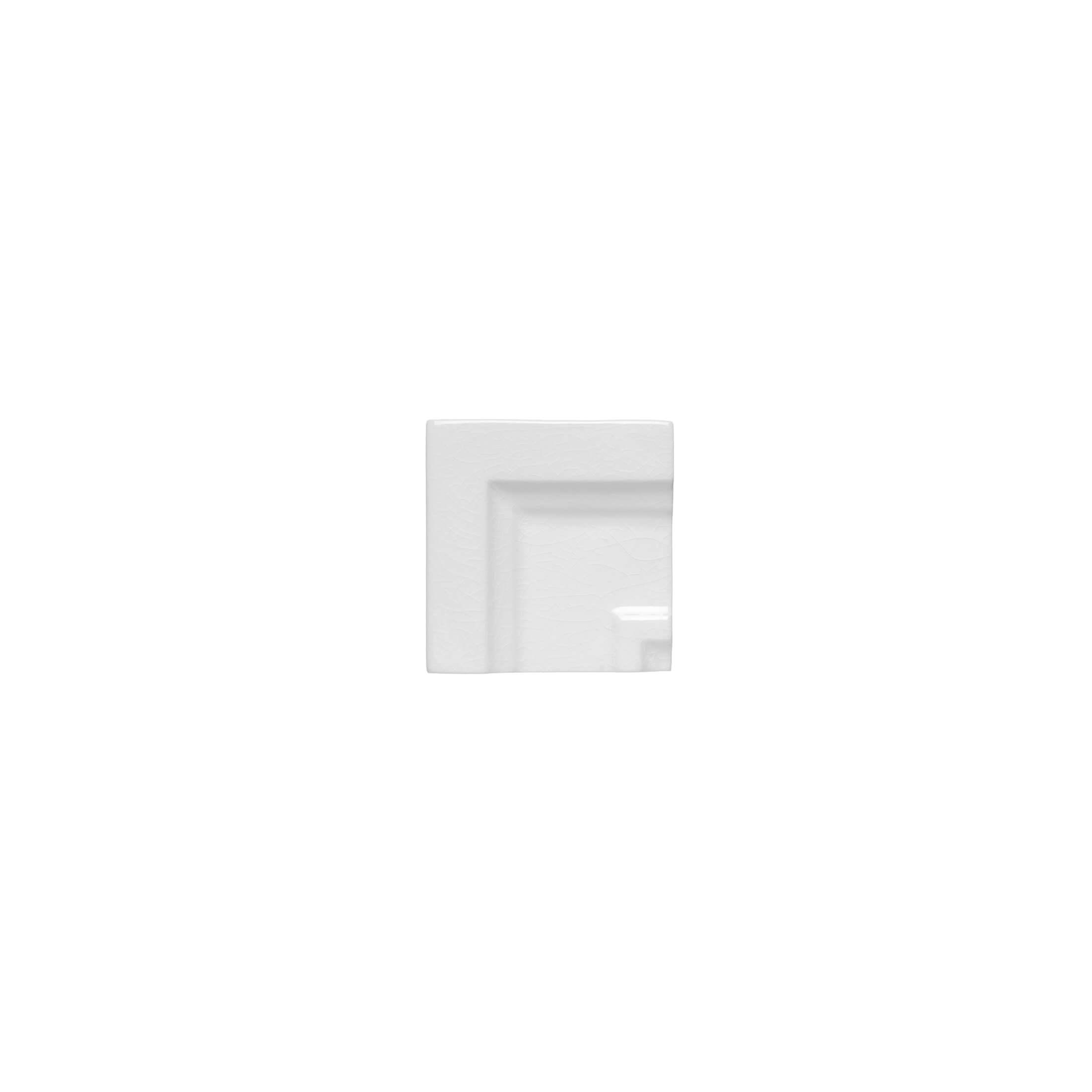 ADEX-ADMO5410-ANGULO-MARCO CORNISA CLASICA C/C -7.5 cm-15 cm-MODERNISTA>BLANCO