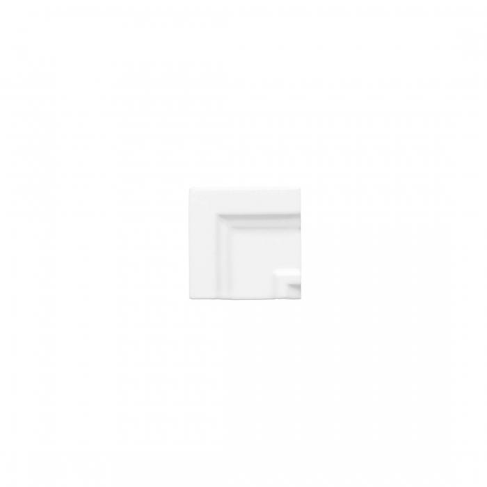 ADEX-ADNE5515-ANGULO-MARCO CORNISACLASICA -7.5 cm-15 cm-NERI>BLANCO Z