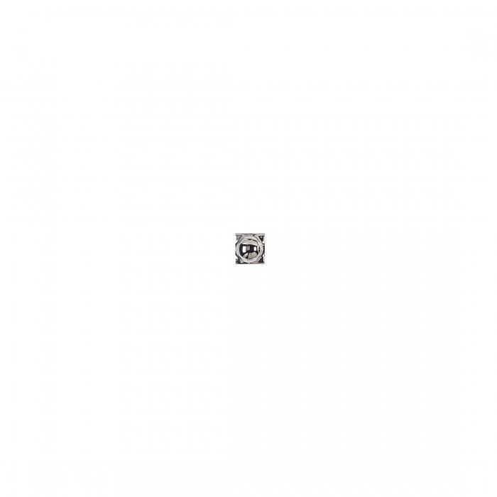 ADEX-ADNE8058-TACO-ESFERA PLATA -2 cm-2 cm-ROMBOS>