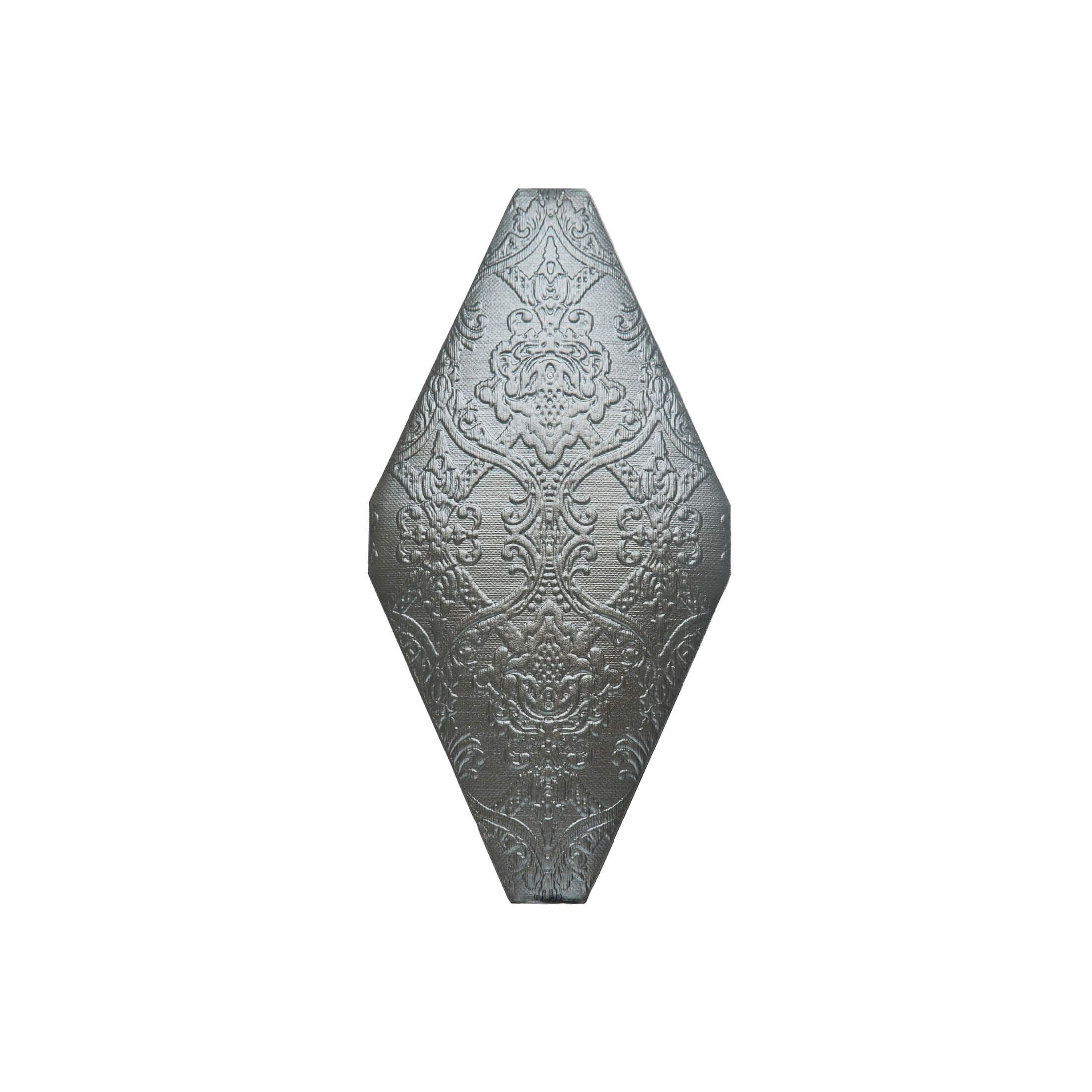 ADNE8105 - ROMBO ACOLCHADO GRAFITO - 10 cm X 20 cm
