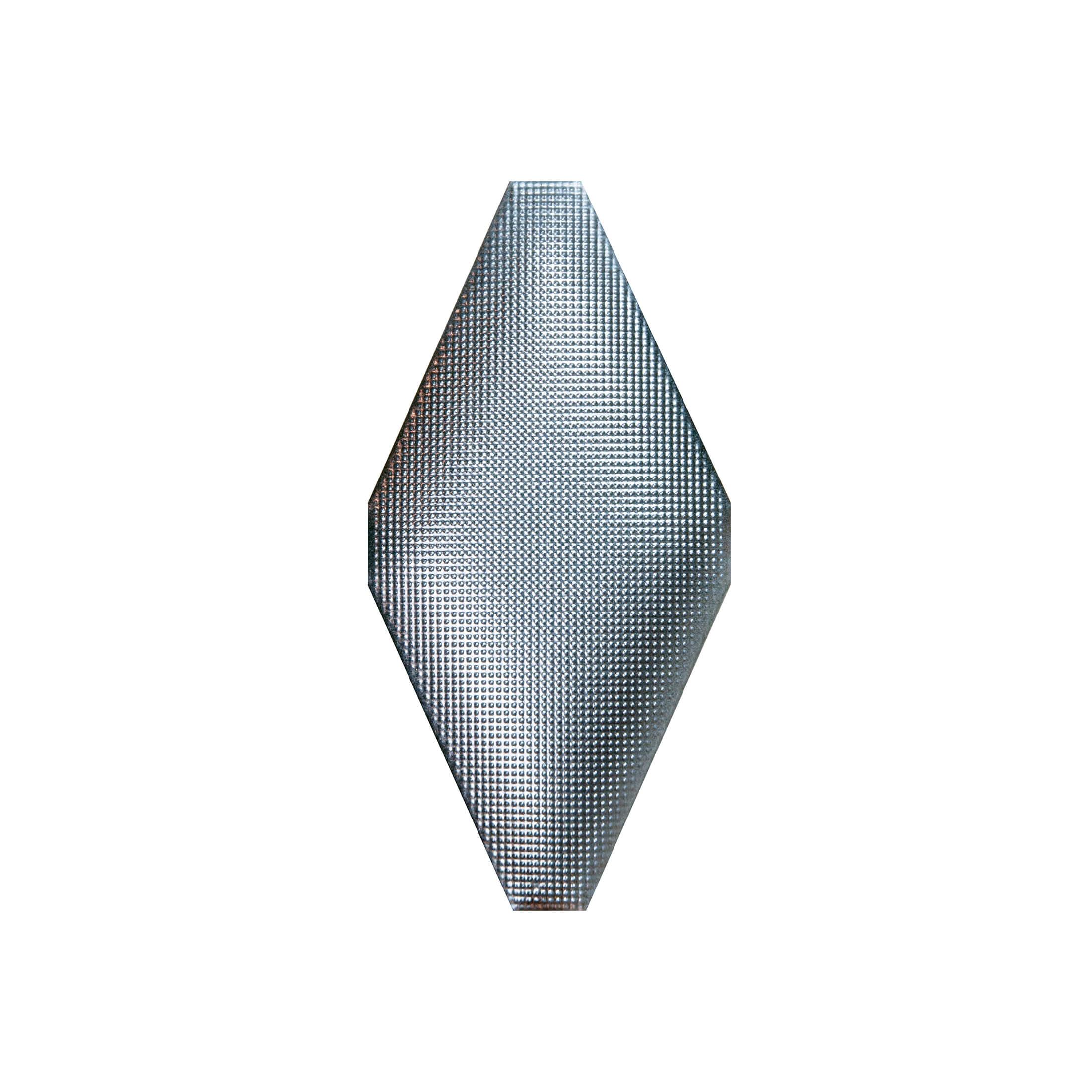 ADNE8124 - ROMBO ACOLCHADO PLATINO - 10 cm X 20 cm