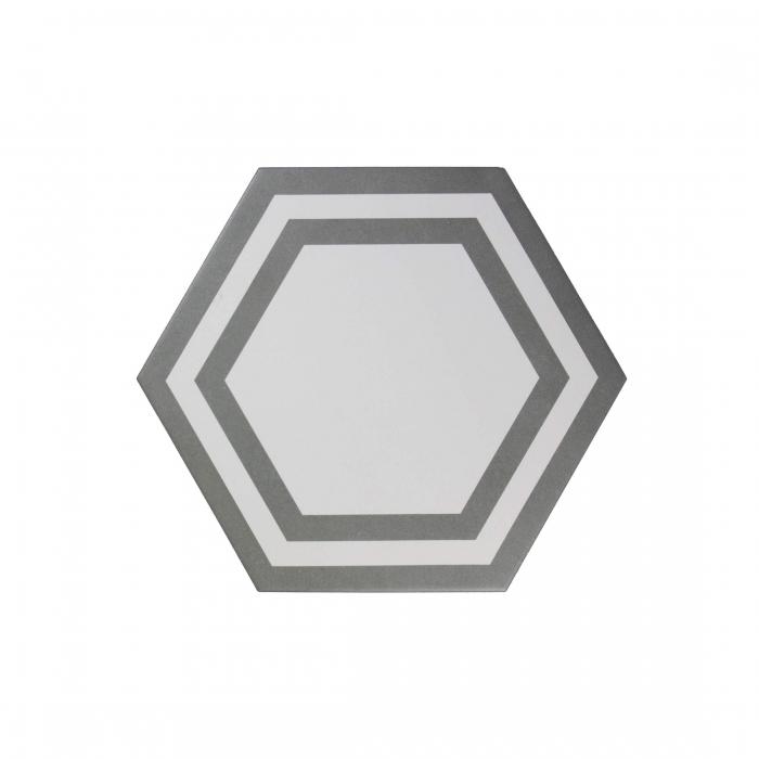 ADEX-ADPV9018-PAVIMENTO-DECO DARK GRAY-20 cm-23 cm-PAVIMENTO>HEXAGONO