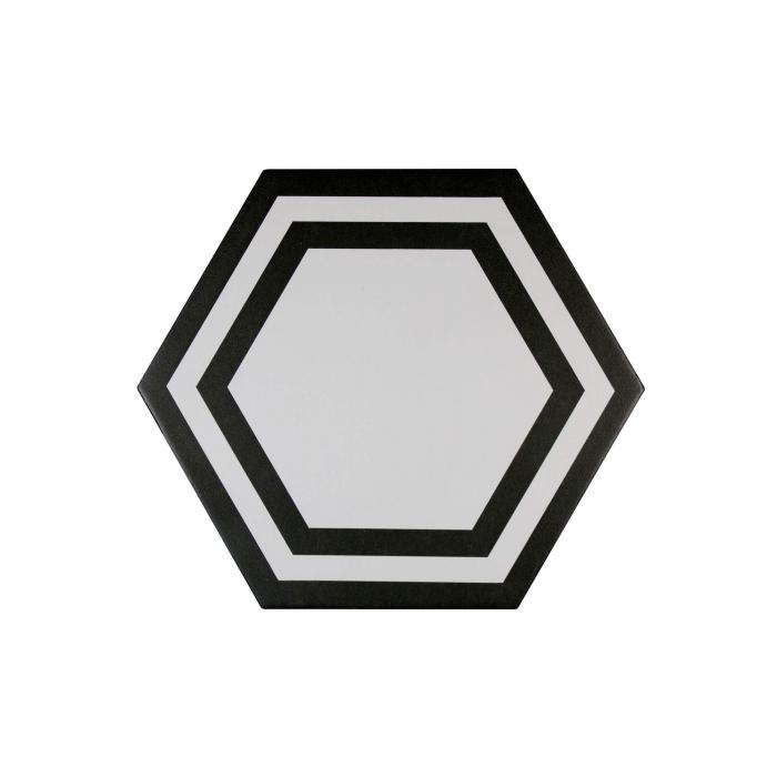 ADEX-ADPV9020-PAVIMENTO-DECO BLACK -20 cm-23 cm-PAVIMENTO>HEXAGONO