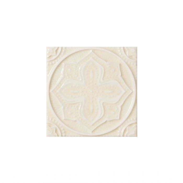 ADEX-ADST4097-RELIEVE-MANDALA PLANET  -14.8 cm-14.8 cm-STUDIO>ALMOND
