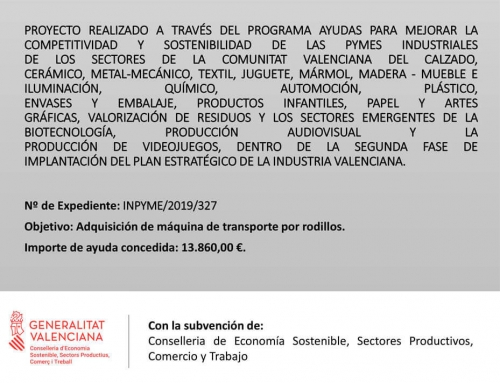 PROGRAMA DE AYUDAS PARA MEJORAR LA COMPETITIVIDAD Y SOSTENIBILIDAD DE LAS PYMES INDUSTRIALES
